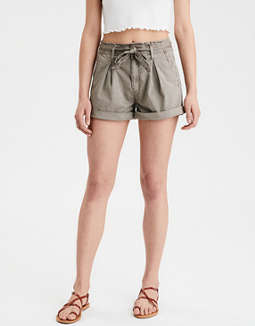 High-Waisted Paperbag Short