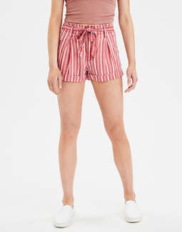 High-Waisted Striped Short