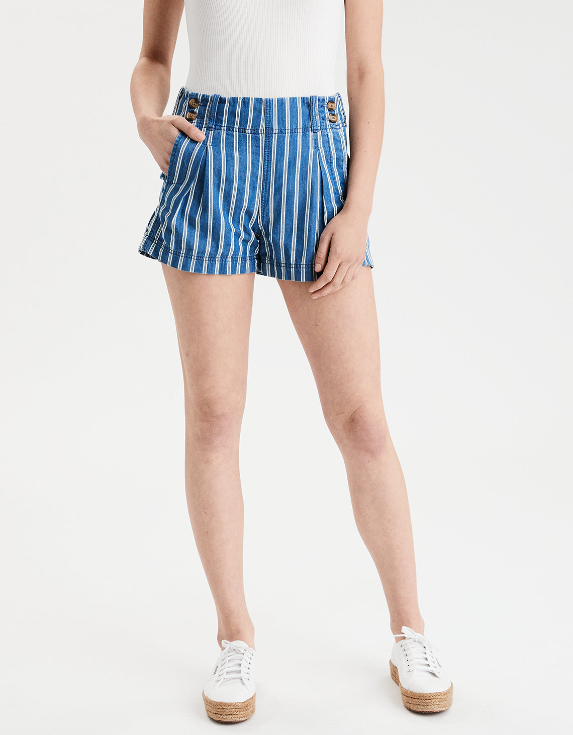 High-Waisted Striped Sailor Short