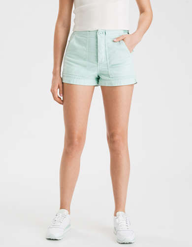 AE High-Waisted Utility Khaki Short