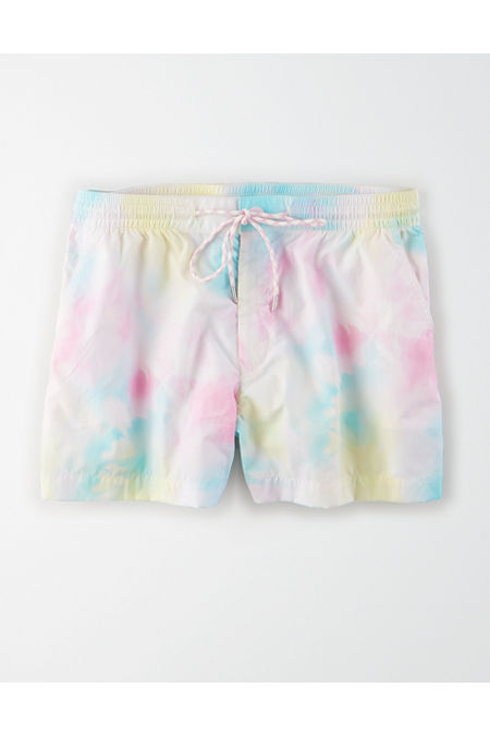 Vintage Shorts, Culottes,  Capris History AE High-Waisted Nylon Sport Short Womens Multi XXL $29.96 AT vintagedancer.com