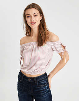 Ae Soft &Amp; Sexy Off The Shoulder T Shirt by American Eagle Outfitters