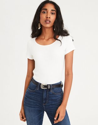 Ae Soft &Amp; Sexy Ribbed Baby T Shirt by American Eagle Outfitters