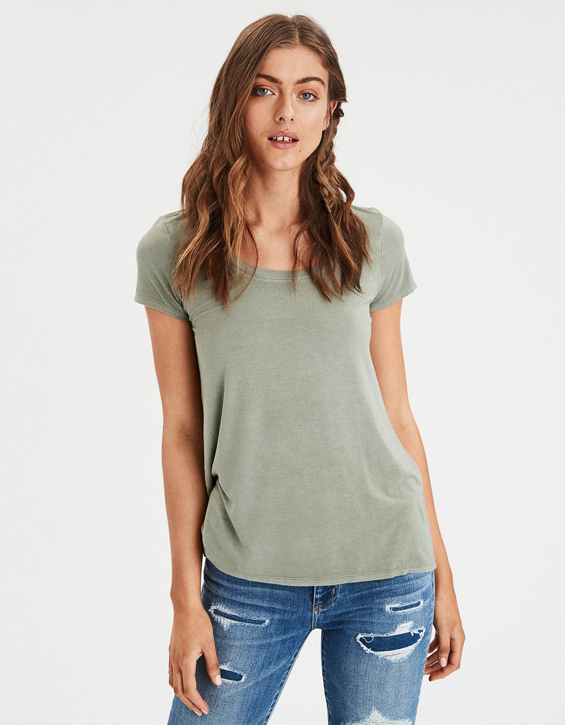 4bd9e815b4 AE Favorite Scoop Neck Tee