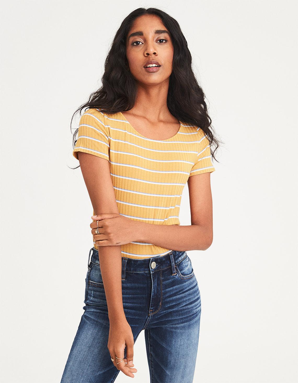 Sexy yellow shirt