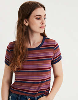 AE Ribbed Ringer T-Shirt