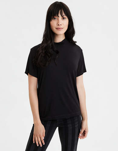 AE Loose Mock Neck T-Shirt