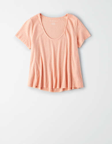 AE Scoop Neck Cropped T-Shirt