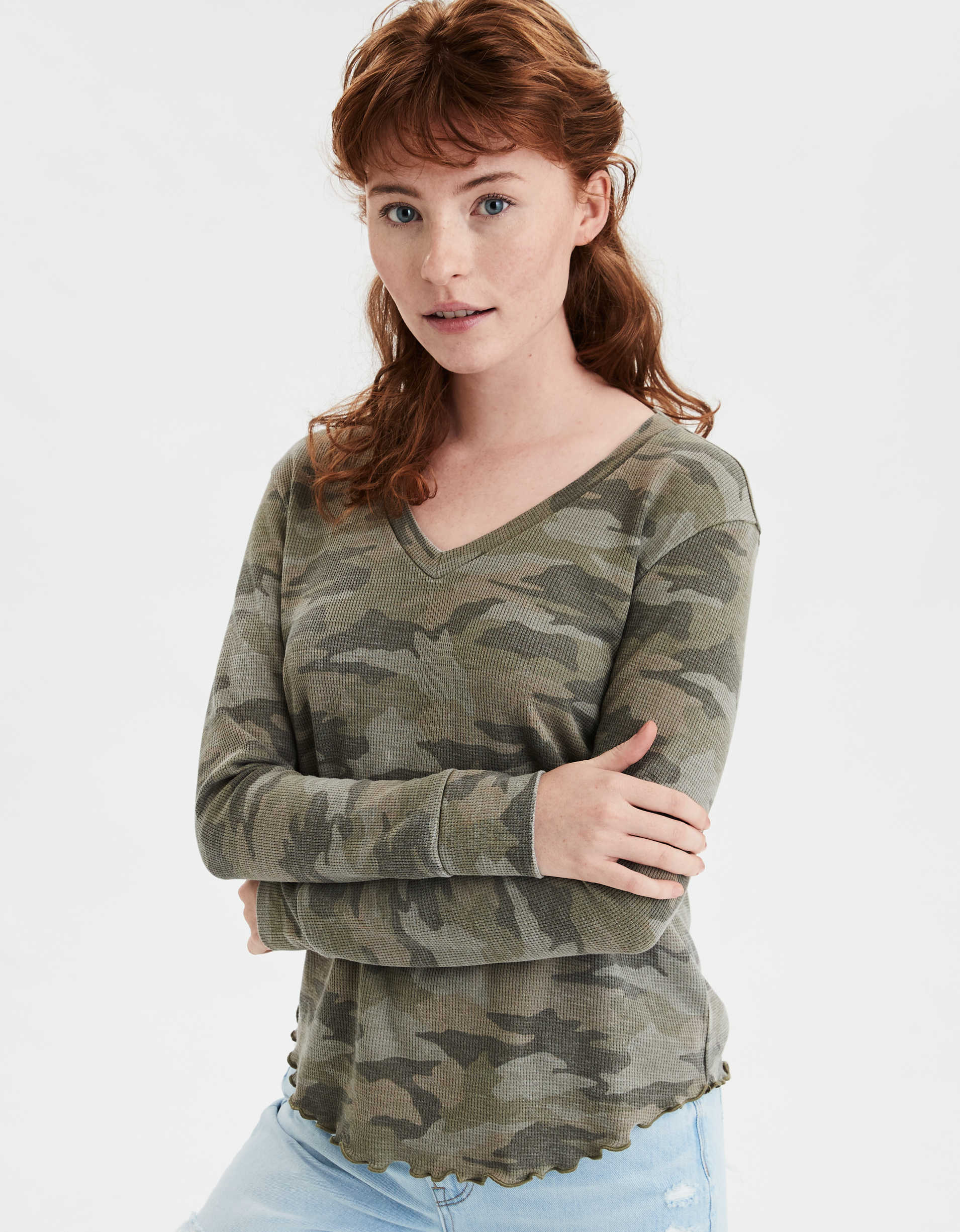 AE Camo Long Sleeve Thermal T-Shirt