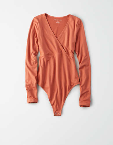 AE Long Sleeve V-Neck Bodysuit