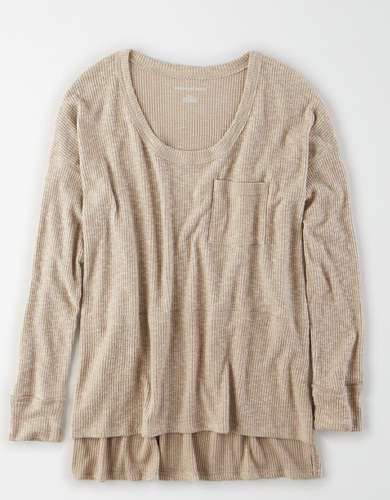 AE Soft Plush Oversized Scoop Neck T-Shirt