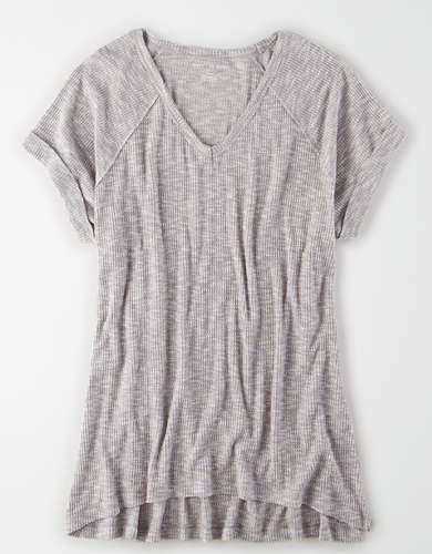 AE Plush V-Neck Tunic T-Shirt