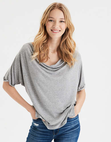 AE Cowl Neck T-Shirt