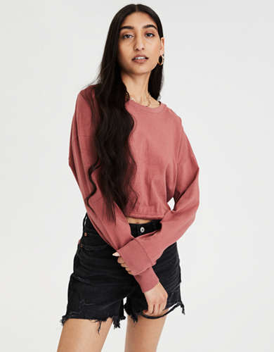 AE Long Sleeve Tie Back T-Shirt