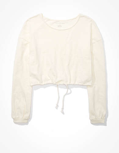 AE Long Sleeve Draw String T-Shirt