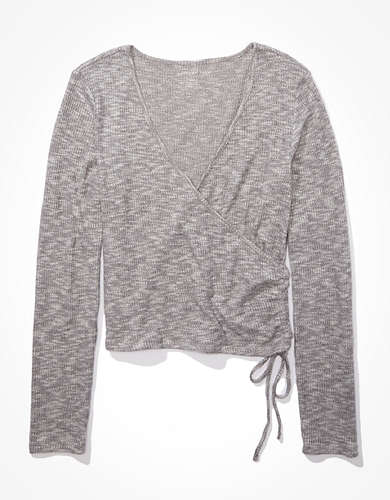 AE Plush Long Sleeve Wrap T-Shirt