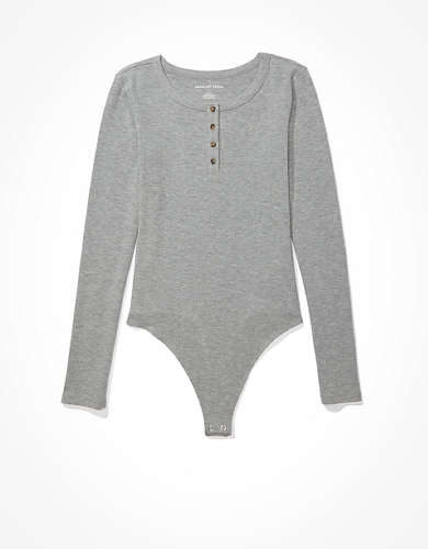 AE Long Sleeve Henley Bodysuit