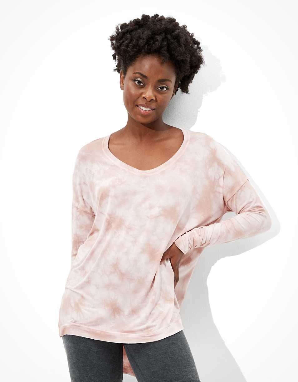 AE Soft & Sexy Long Sleeve Scoop Neck Tunic T-Shirt