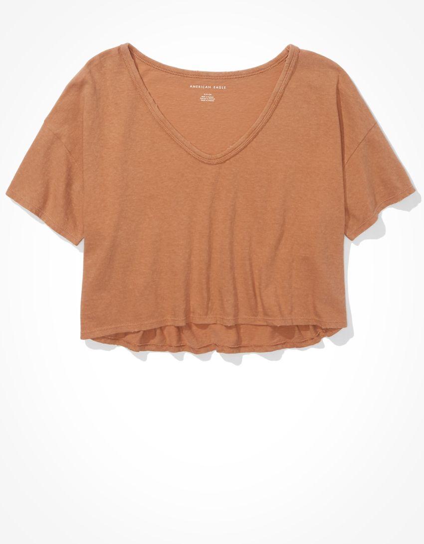 AE Cropped V-Neck T-Shirt