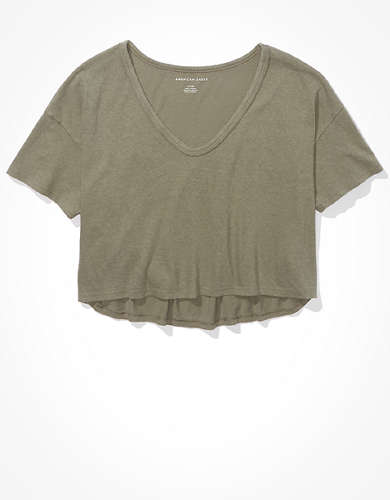 AE Cropped V-Neck T-Shirt