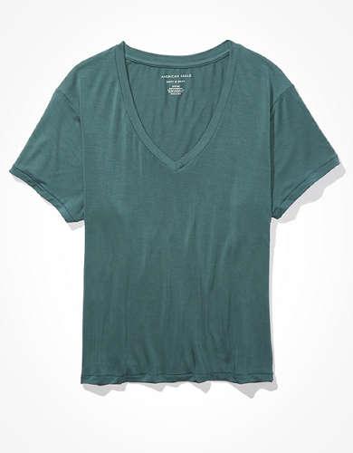AE Soft & Sexy Slim Fit V-Neck T-Shirt