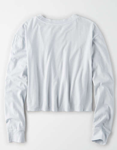 AE Long Sleeve Boxy Cropped T-Shirt