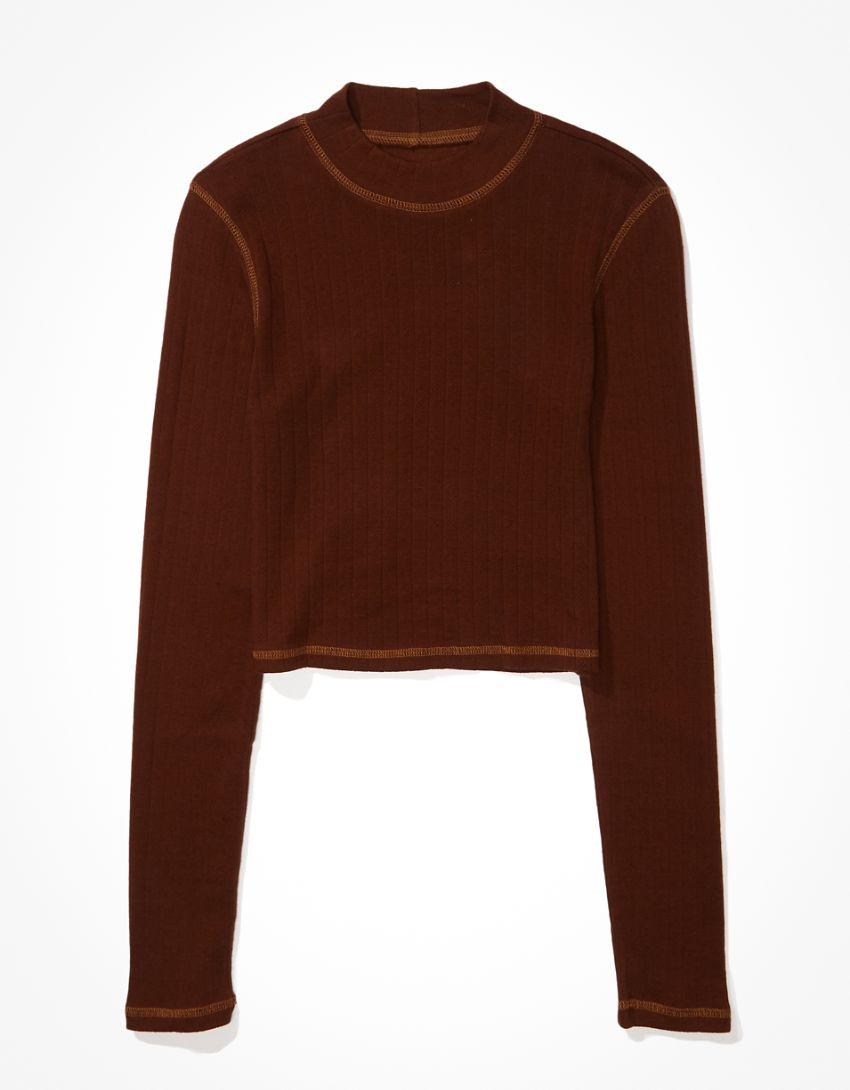 AE Long-Sleeve Mock Neck T-Shirt