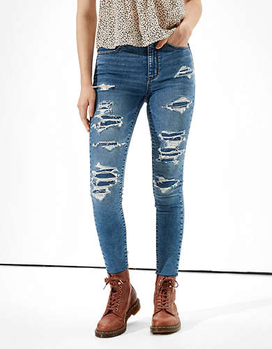 AE Cozy Ne(x)t Level Patched Super High-Waisted Jegging