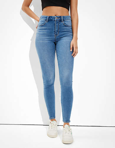 American Eagle AE Ne(x)t Level Soft Knit Ripped Curvy Super High-Waisted Jegging