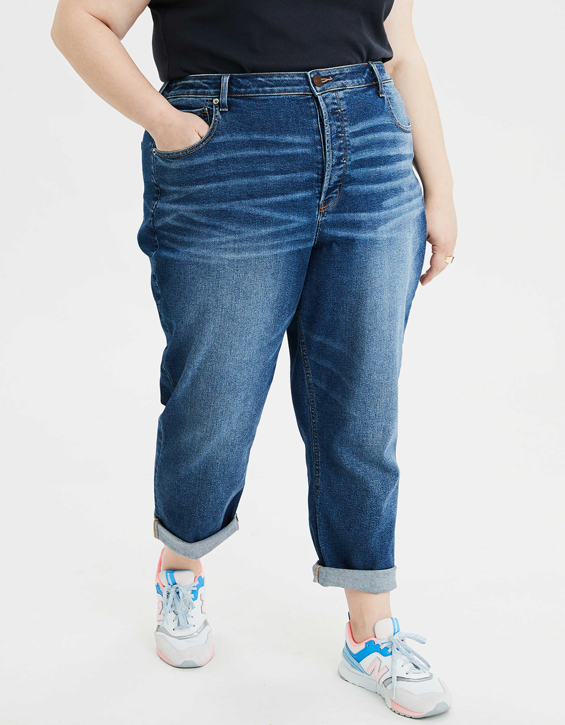 Stretch High-Waisted Tomgirl Jean
