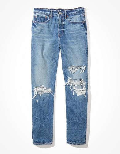 מכנסי ג'ינס ניינטיז בוייפרנד אמריקן איגל