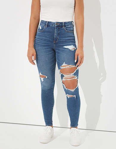 AE Dream Ripped Curvy High-Waisted Jegging