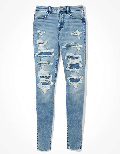 AE Cozy Ne(x)t Level Patched Curvy High-Waisted Jegging