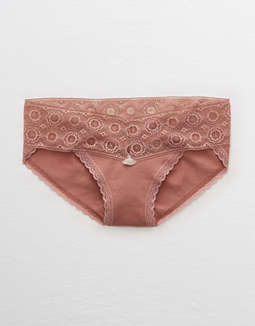 Aerie Cotton Lace Trim Bikini Undie