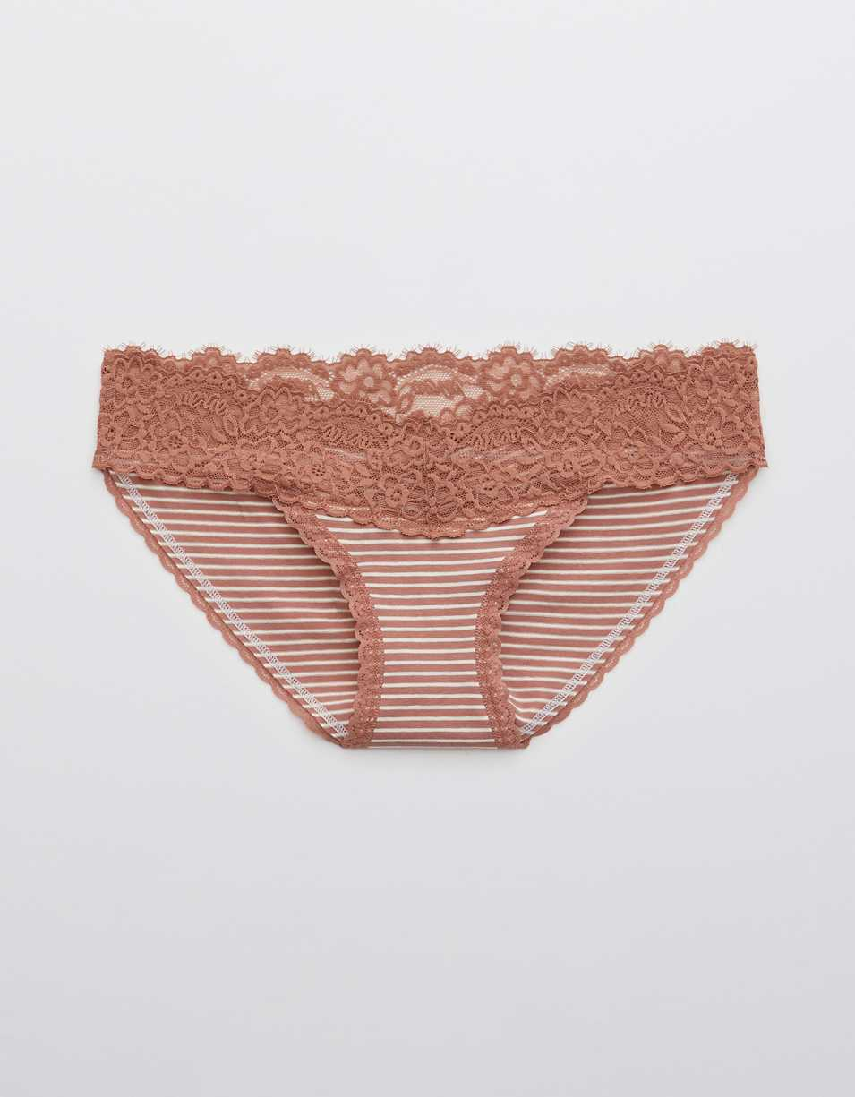 Aerie Cotton Eyelash Lace Bikini Underwear