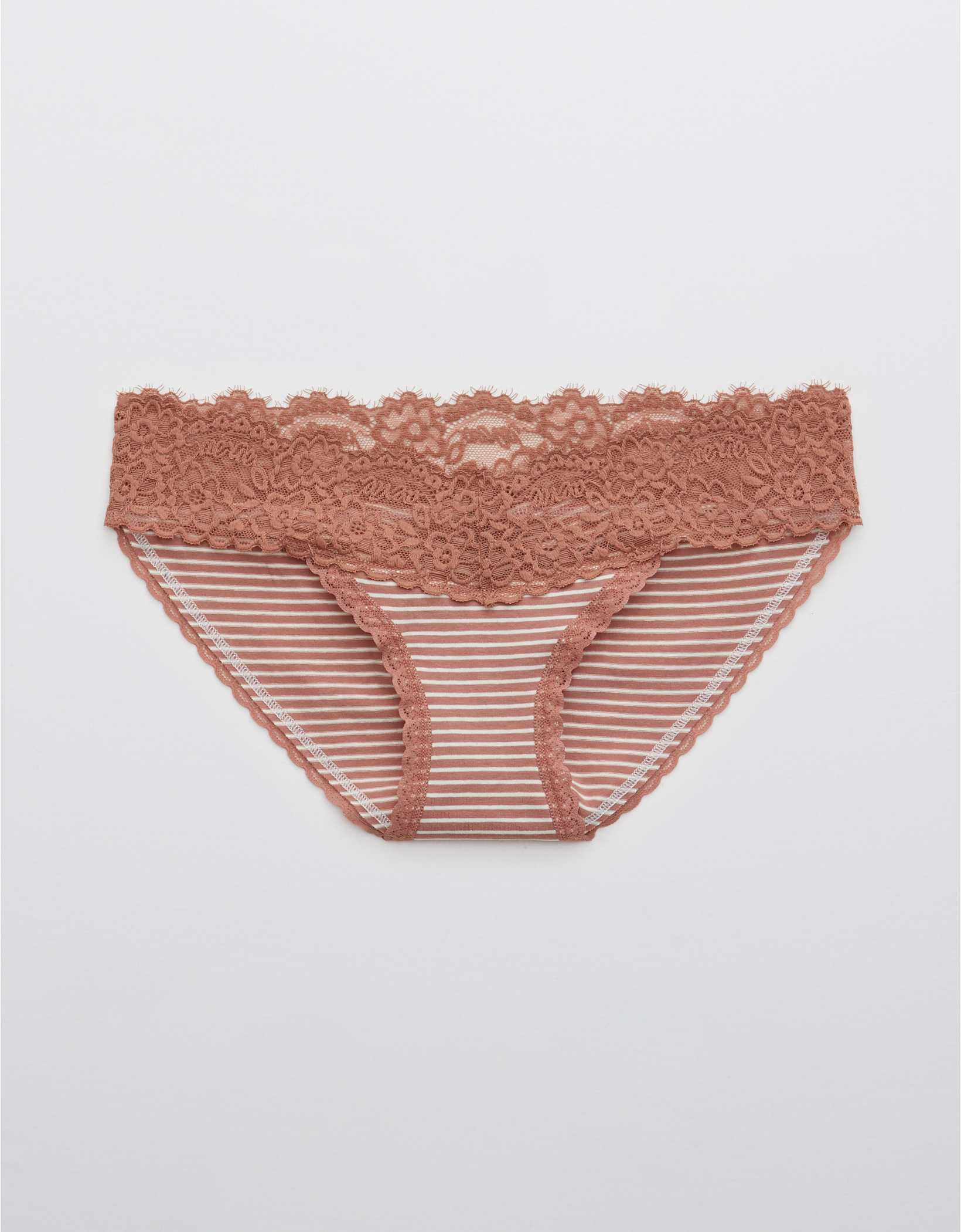 Aerie Cotton Eyelash Lace Printed Bikini Underwear