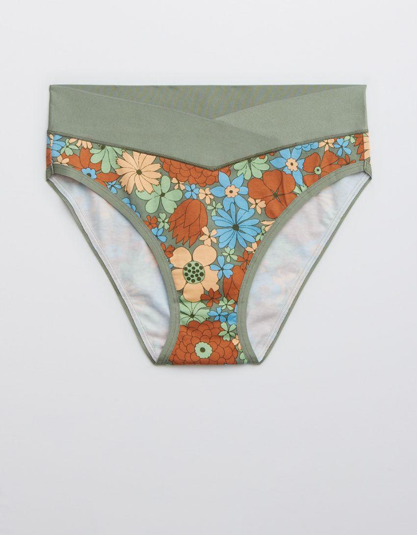 Aerie Cotton Crossover High Waisted Mom Underwear