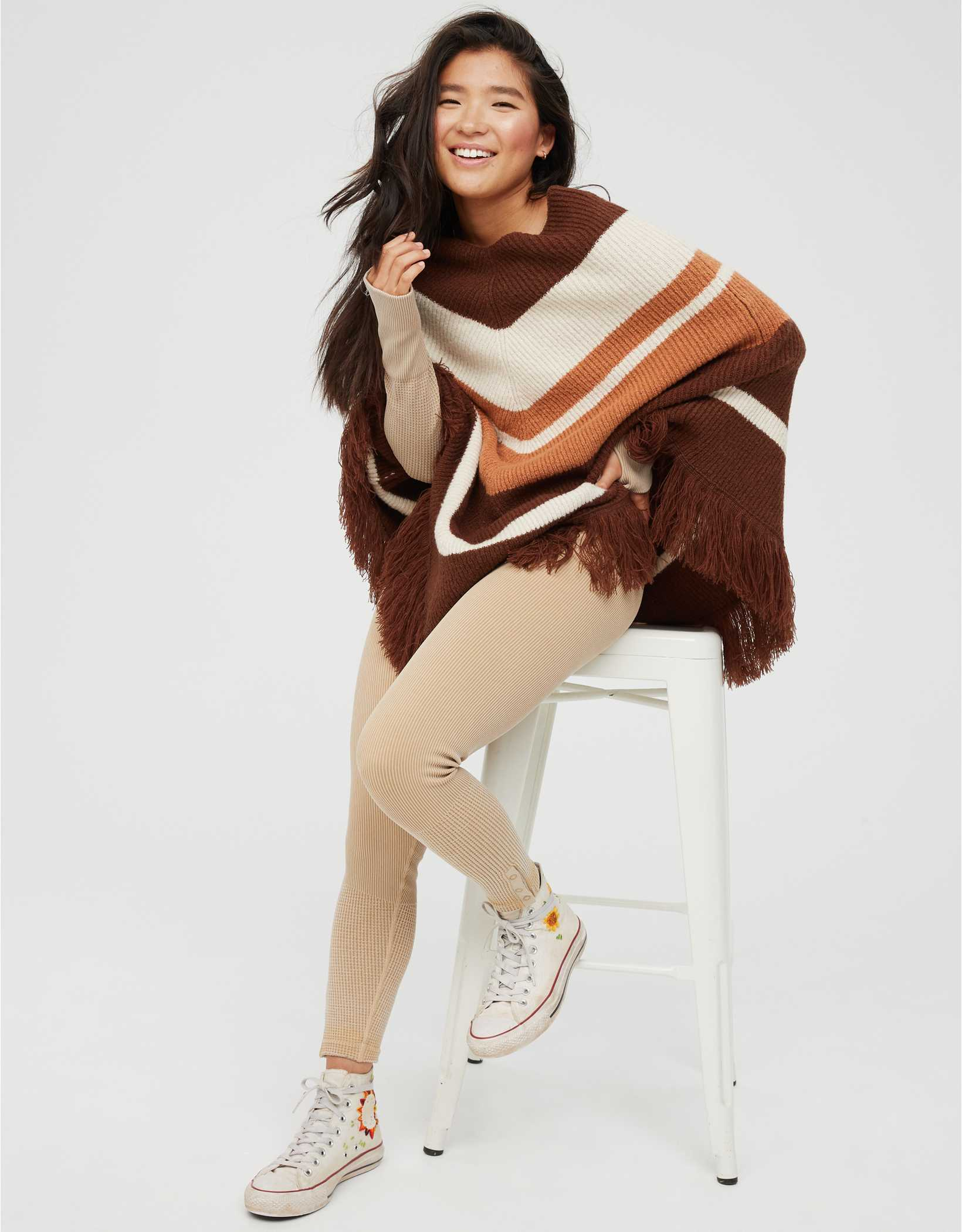 OFFLINE Pullover Sweater Poncho