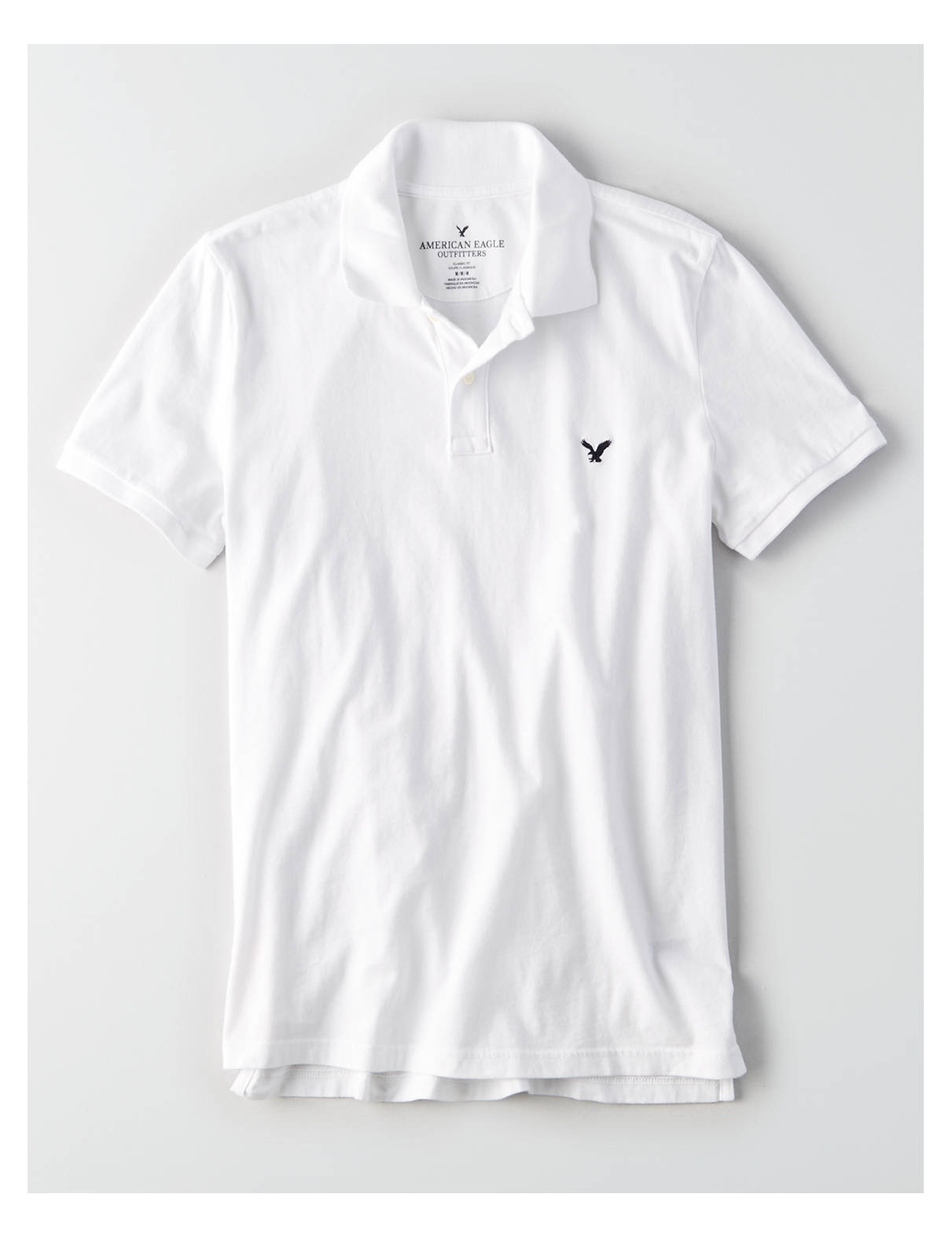 Display product reviews for AEO Solid Jersey Polo Shirt