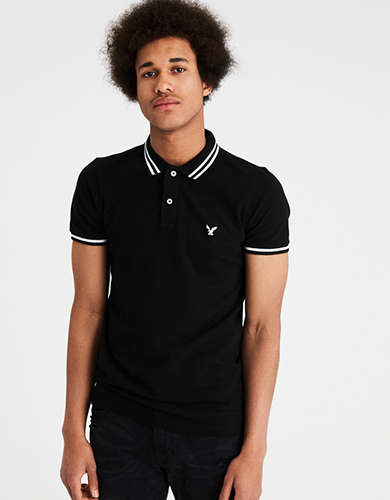 AE ATHLETIC TIPPED COLLAR POLO
