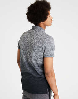 Ae Dip Dye Jersey Polo by American Eagle Outfitters
