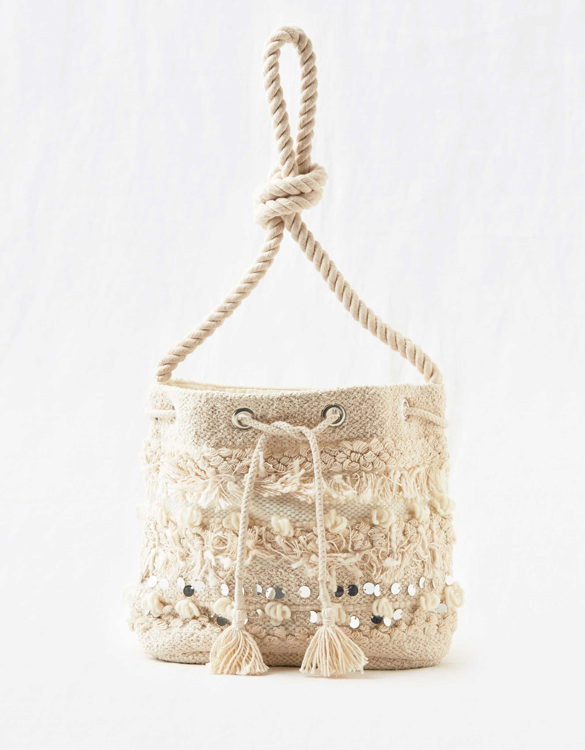 Aerie Embellished Bucket Bag