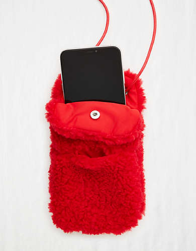 Aerie Sherpa Phone Purse