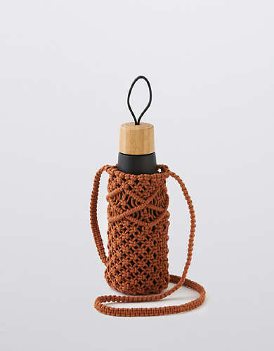 Aerie Crochet Water Bottle Bag