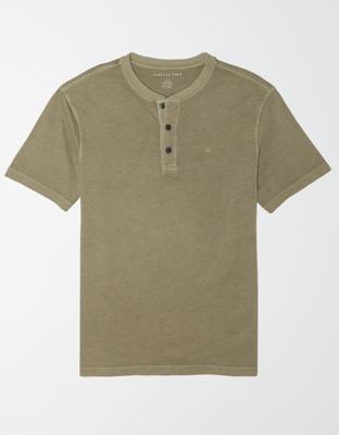 AE Супермягкая культовая футболка с вырезом-хенли