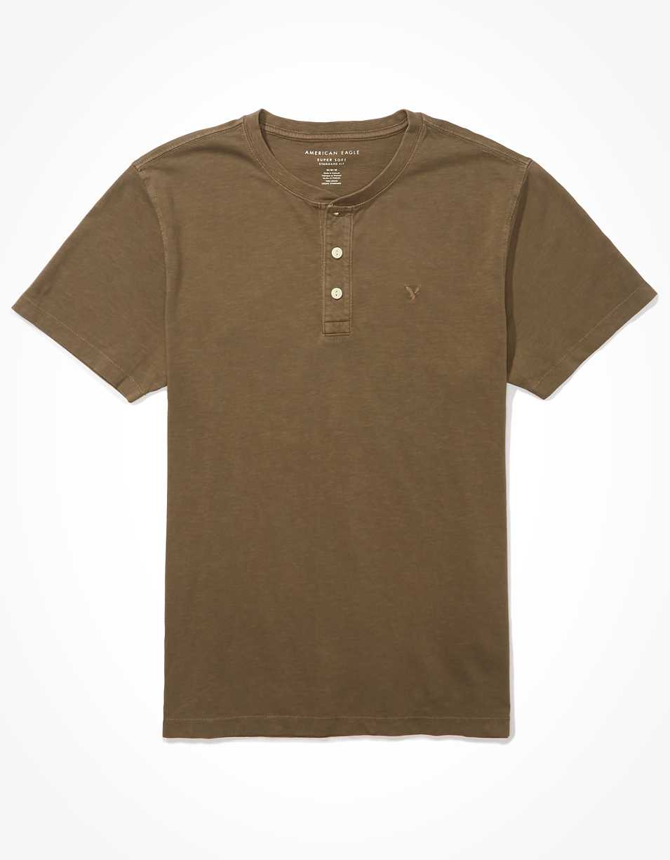 AE Super Soft Henley T-Shirt