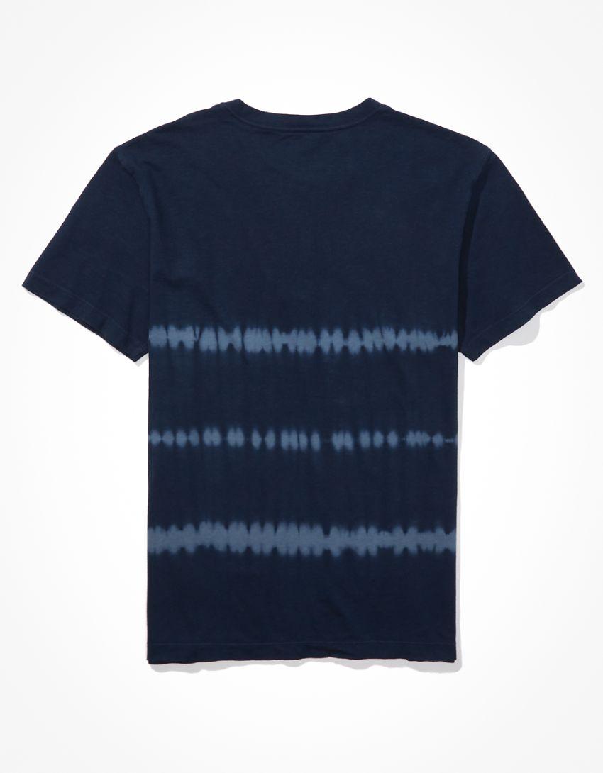 AE Super Soft Tie-Dye Henley T-Shirt