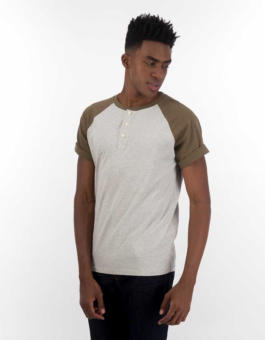 AE Color-Block Henley T-Shirt