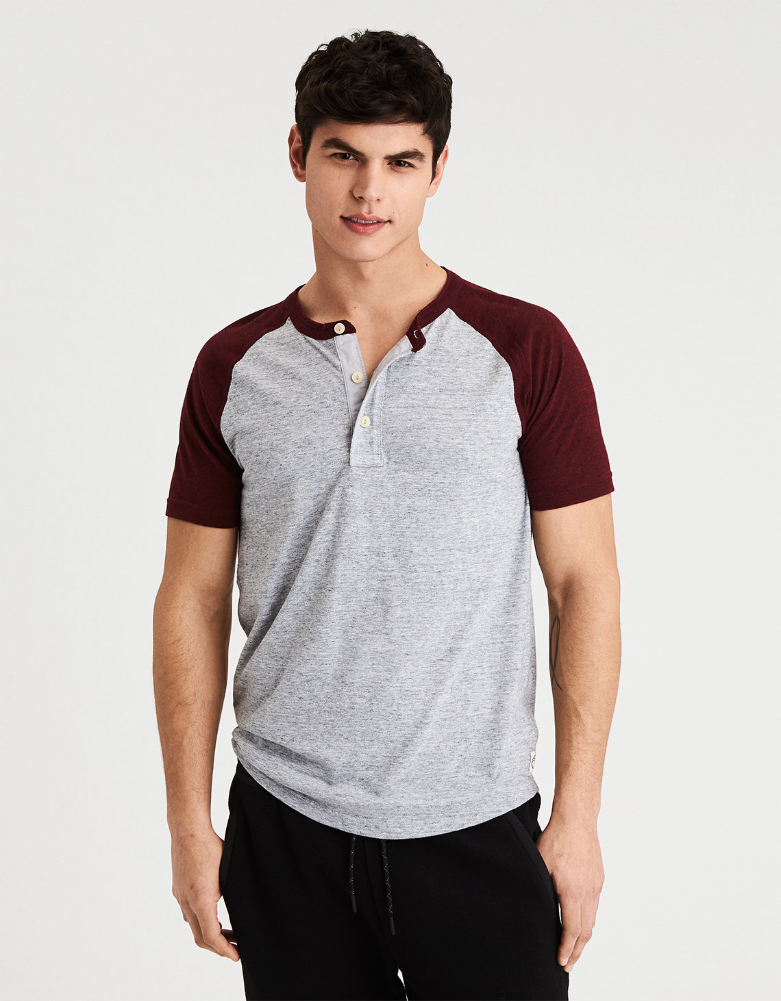 AE Colorblock Henley. Placeholder image. Product Image