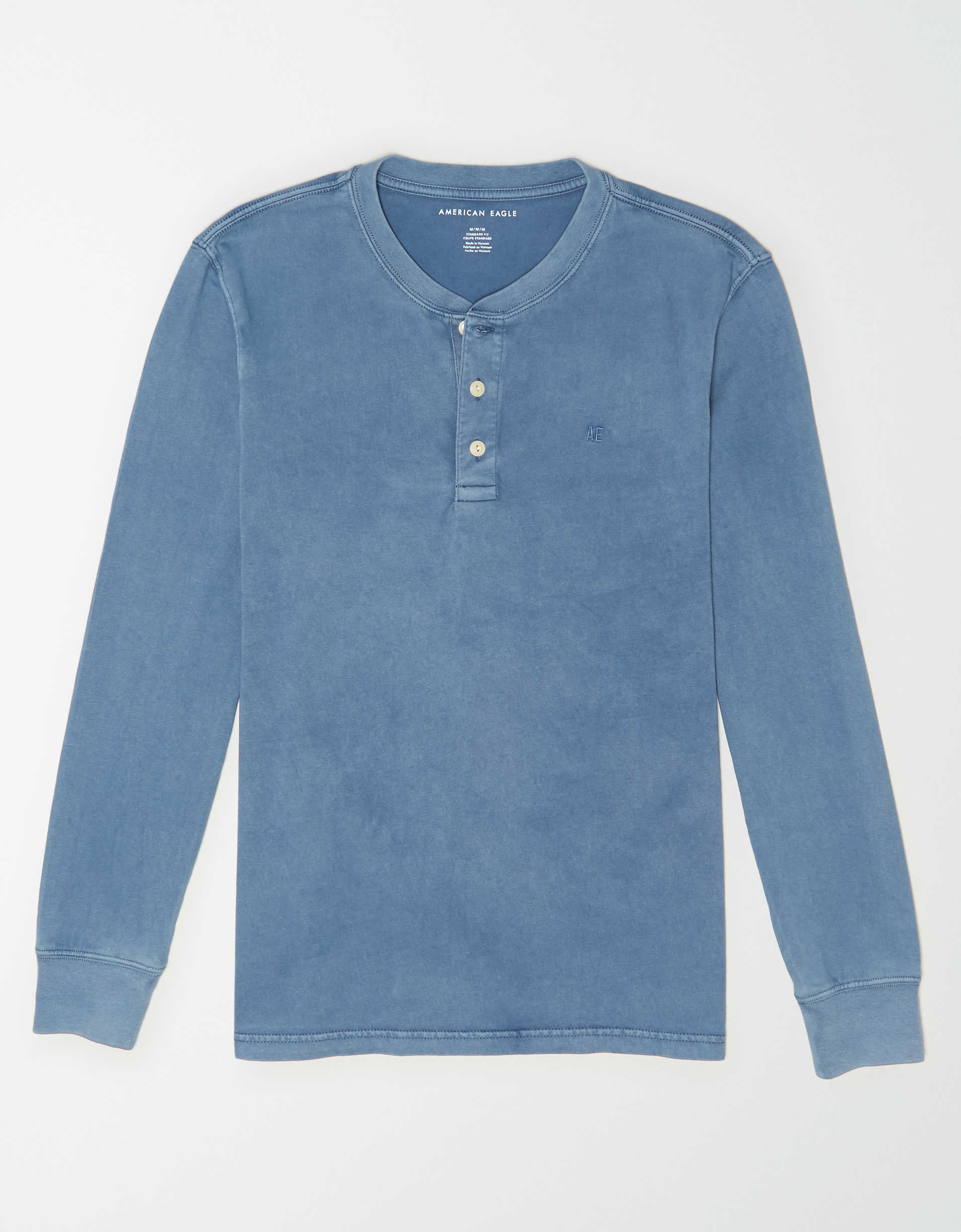 AE Super Soft Icon Long-Sleeve Henley Shirt